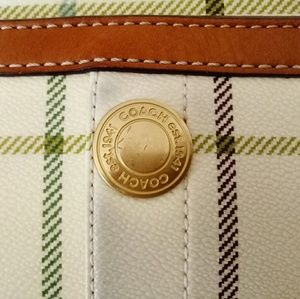 Coach Bags - Coach heritage tattersall plaid leather tote